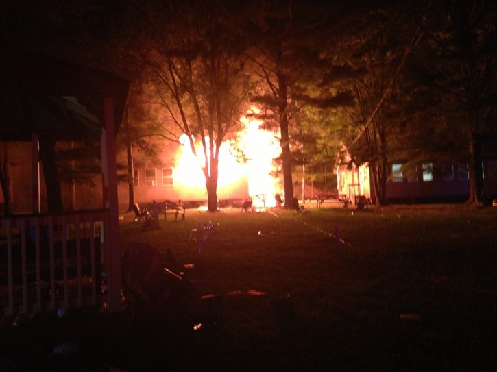 ungalow fire at Camp Mareh Yechezkel in Liberty, New York on Aug. 17, 2014 (VINnews.com)