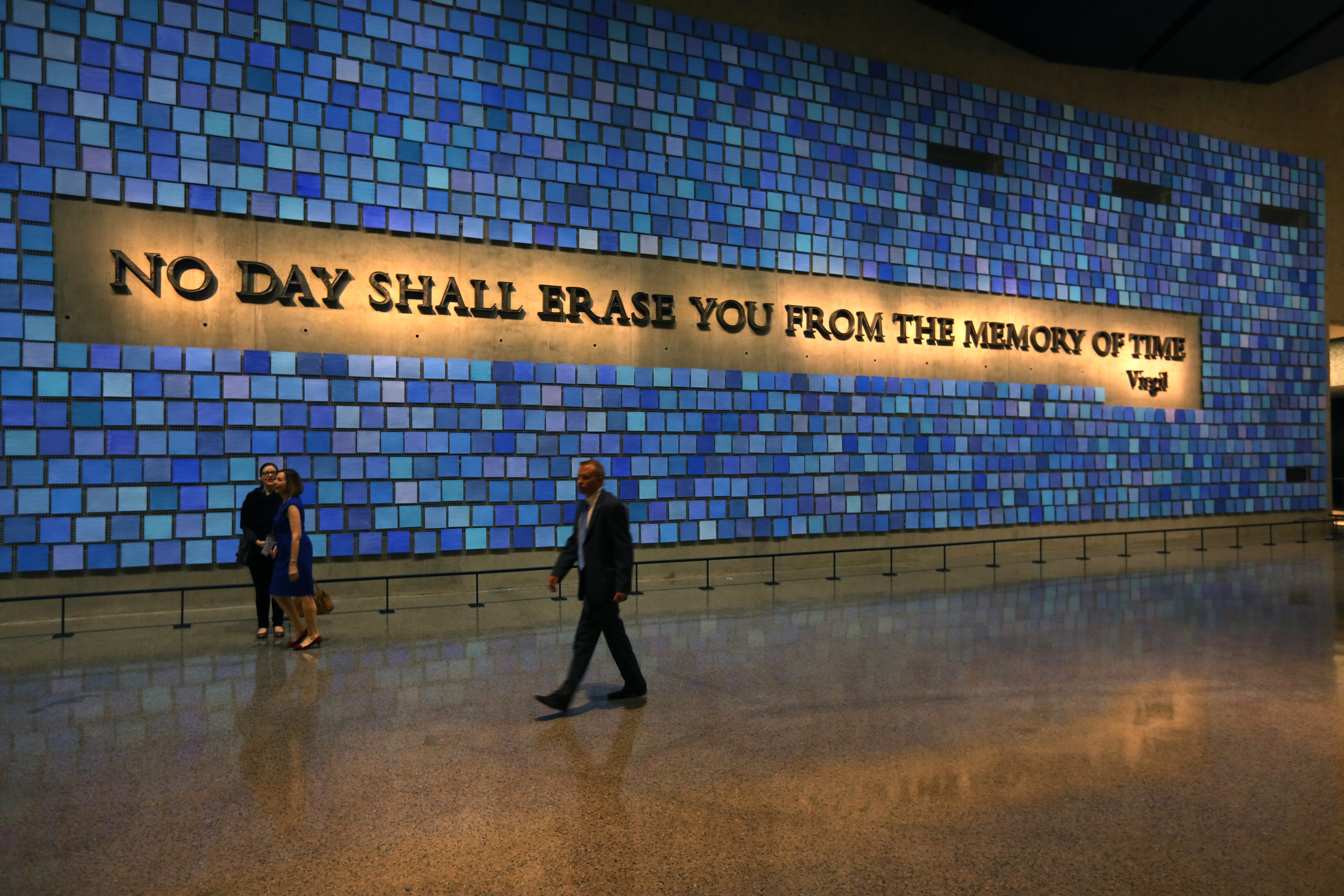 September 11th quotes quotes about september 11th sayings about - File A Quote From Ancient Roman Poet Virgil Fills A Wall At The National September