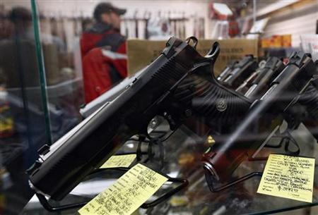 File: A display of guns in Uniondale, New York January 16, 2013. REUTERS/Shannon Stapleton