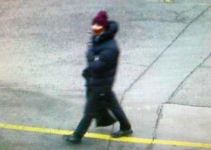 In this photo dated Saturday Feb. 14, 2015, issued by Copenhagen Police believed to show the suspect in a shooting at a freedom of speech event in Copenhagen, in a photo believed to be taken on a street camera near to where the getaway car was later found dumped. (AP Photo /Copenhagen Police)