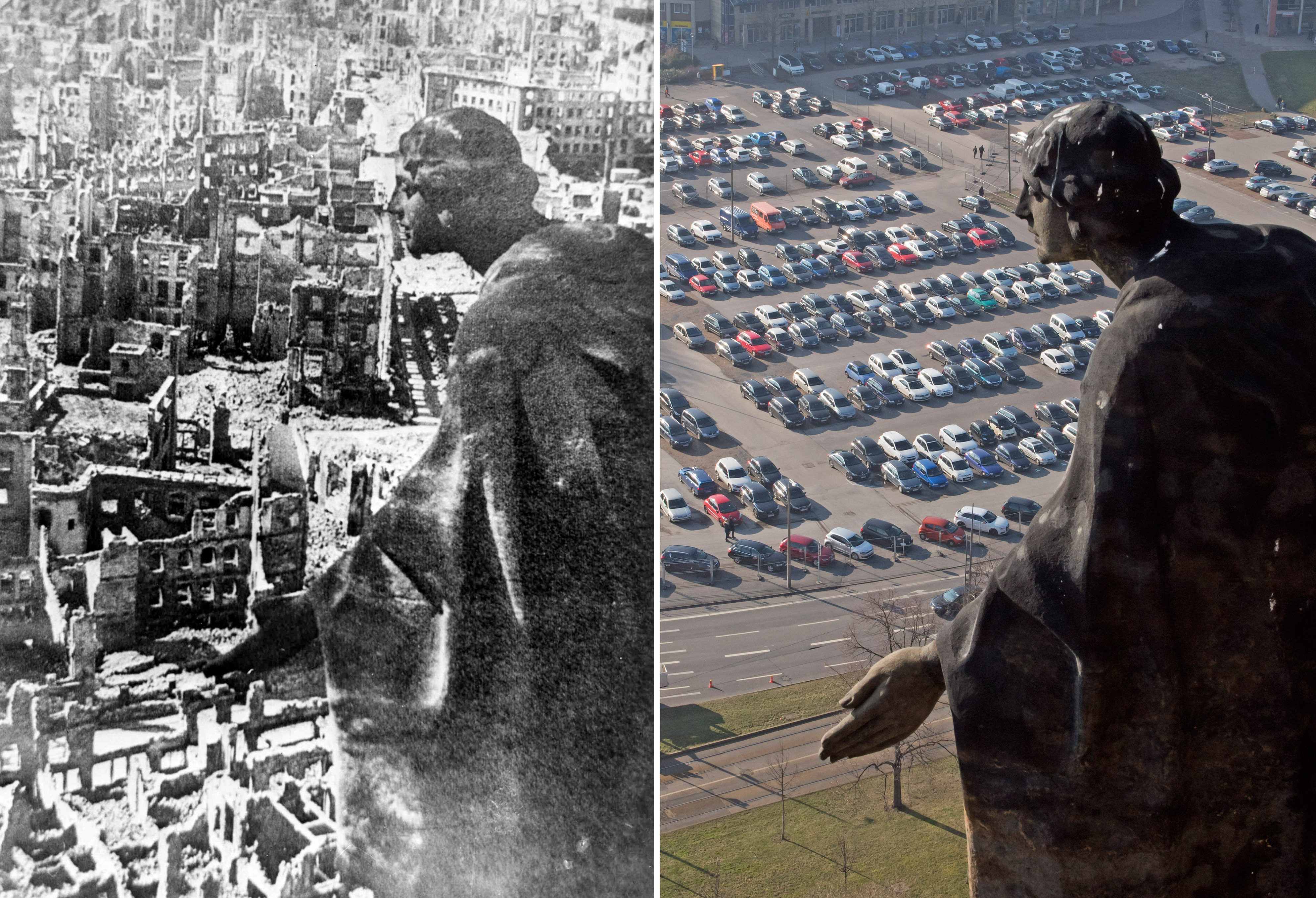 Dresden germany 70 years after dresden bombing still for Cities destroyed in ww2