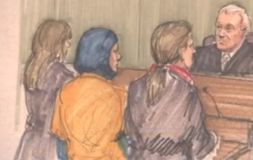 One of the suspects, Mediha Medy Salkicevic, a 34-year-old mother of four from the Chicago suburb of Schiller Park, appeared Saturday in federal court in Chicago.