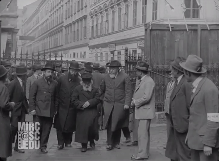 Image grab from the video shows the Chofetz Chaim in 1923 (Photo credit courtesy given to VIN News by the University of South Carolina – Moving Image Research Collections