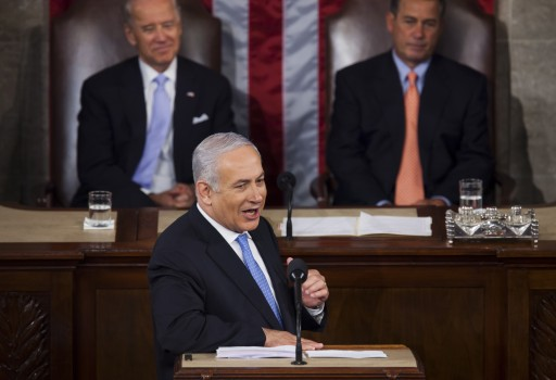 FILE - Israeli Prime Minister Benjamin Netanyahu delivers an address to a joint meeting of the U.S. Congress in Washington, DC, USA on 24 May, 2011. EPA