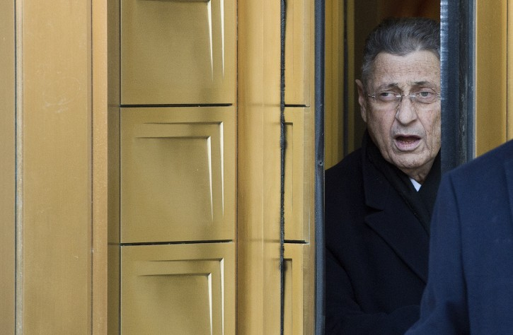 Sheldon Silver, the speaker of the New York State Assembly, leaves federal court after a hearing following his arrest earlier in New York, New York, USA, 22 January 2015.  EPA