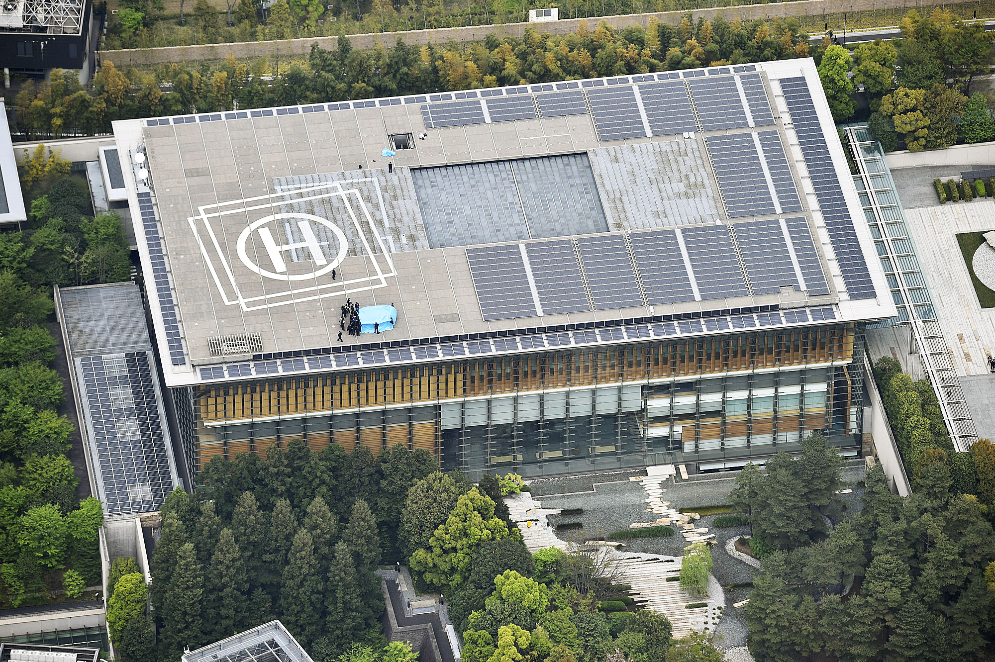 Tokyo drone with radiation found on roof of japanese - Prime minister office postal address ...