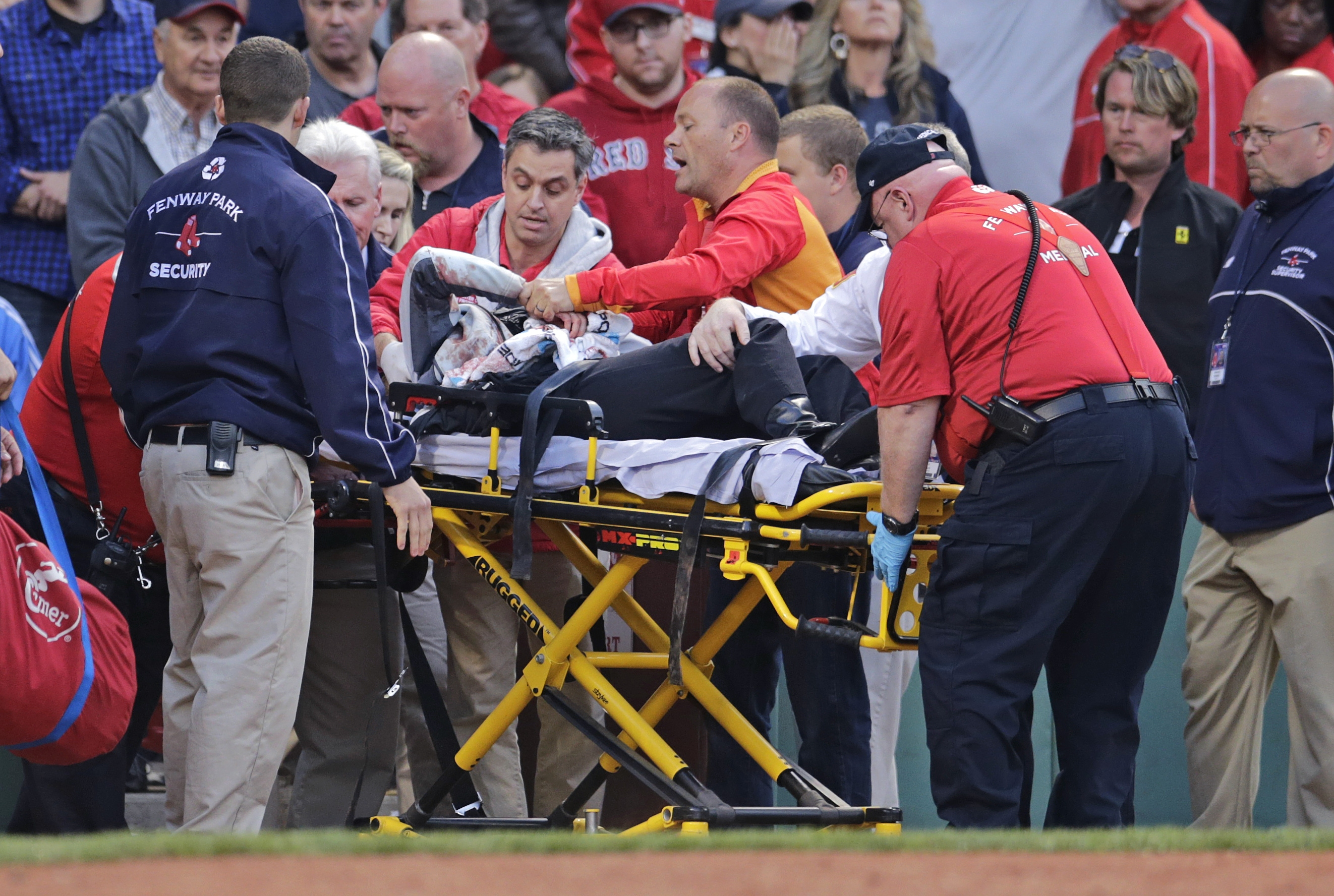 Boston - Woman Struck By Baseball Bat At Red Sox Game In Serious