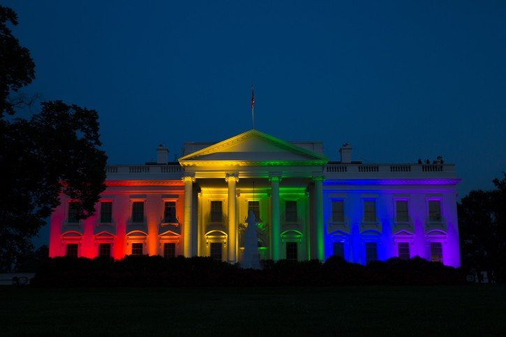 Washington – White House Lit In Rainbow Colors After Supreme Court Ruling