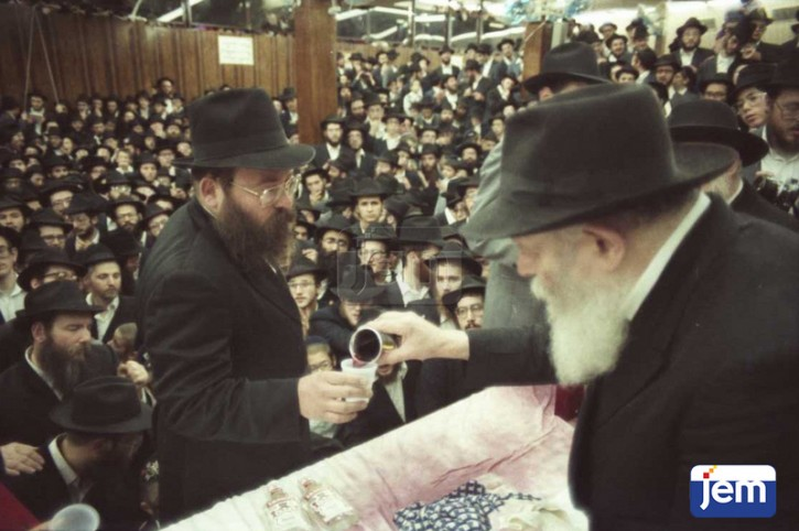 Undated file photo of Rabbi Rapp with the Lubavitcher Rebbe Zt'l