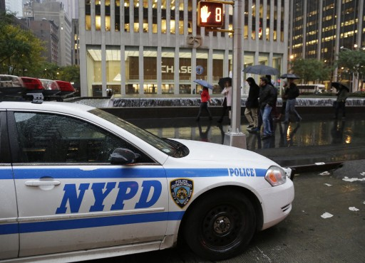 FILE -  New York City Police squad car sits in front of the Consulate General of Canada in New York, USA, 22 October 2014.EPA