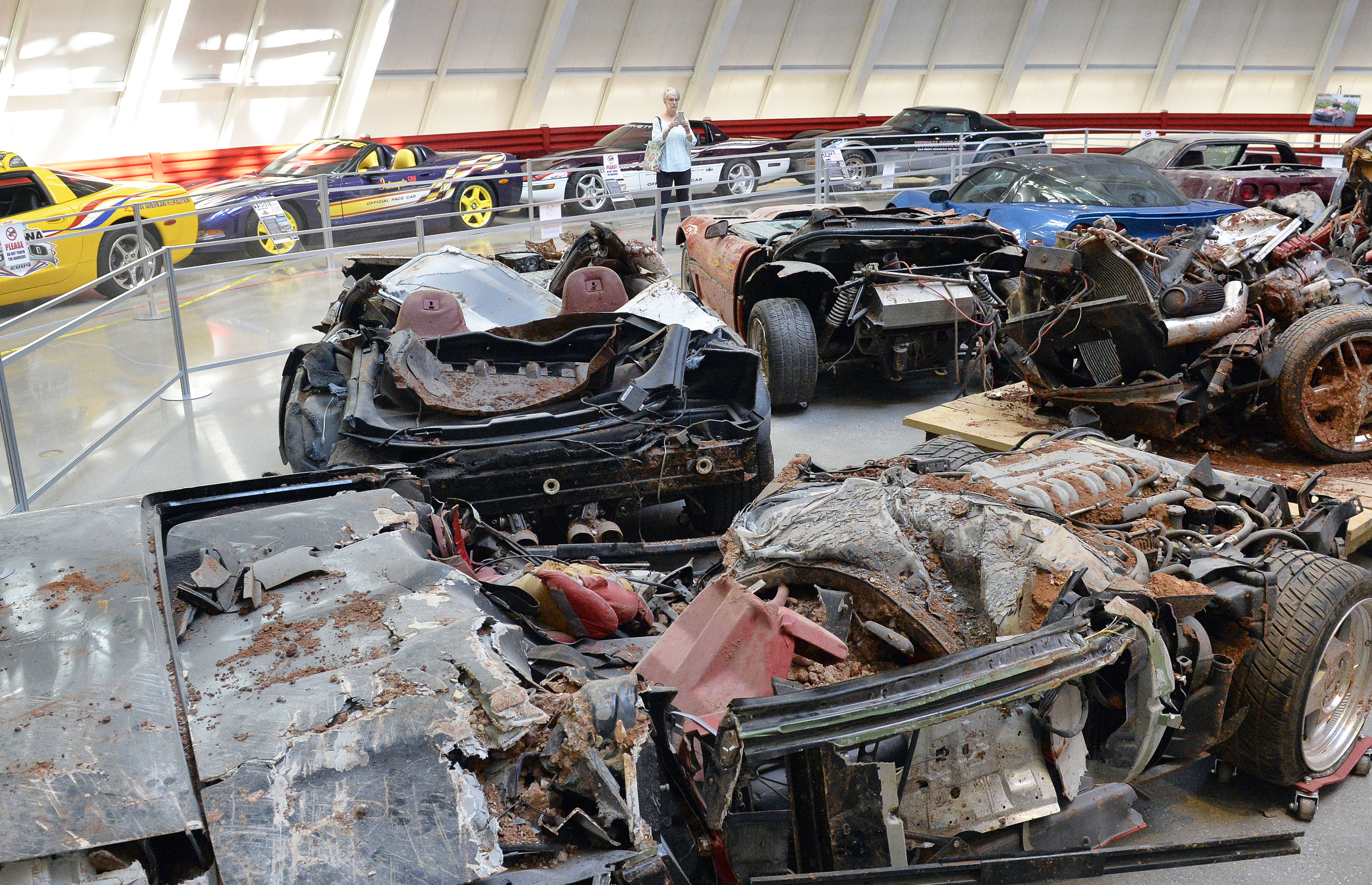 by the sinkhole at the national corvette museum in bowling green ky. Cars Review. Best American Auto & Cars Review