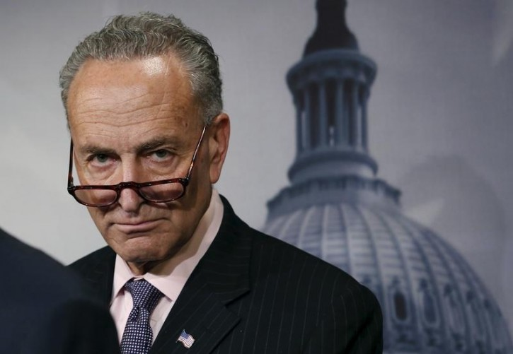 Sen. Chuck Schumer (D-NY) attends a news conference on Amtrak funding on Capitol Hill in Washington May 21, 2015. REUTERS/Yuri Gripas
