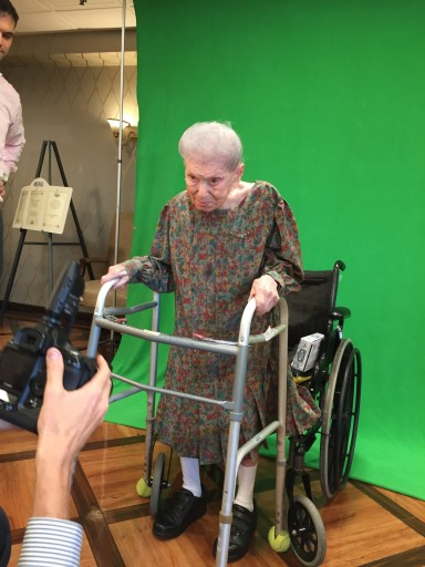 Picture of Mrs. Steinberg were taken on August 5th, 2015 at Grandell  Rehabilitation and Nursing Center in Long Beach.