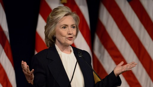 US presidential candidate Hillary Clinton delivers a speech about her proposed economic policies at the New School in New York, New York, USA, on 13 July 2015. EPA/JUSTIN LANE