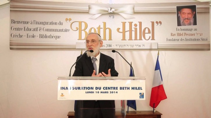 FILE = Rabbi Michel Gugenheim, attends the March 11, 2014 opening of a charitable institution. (photo credit: Courtesy/Consistoire de Paris)