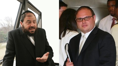 (Left) Rabbi Yaakov Horowitz is being suit by Convicted child moster Yona Weinberg