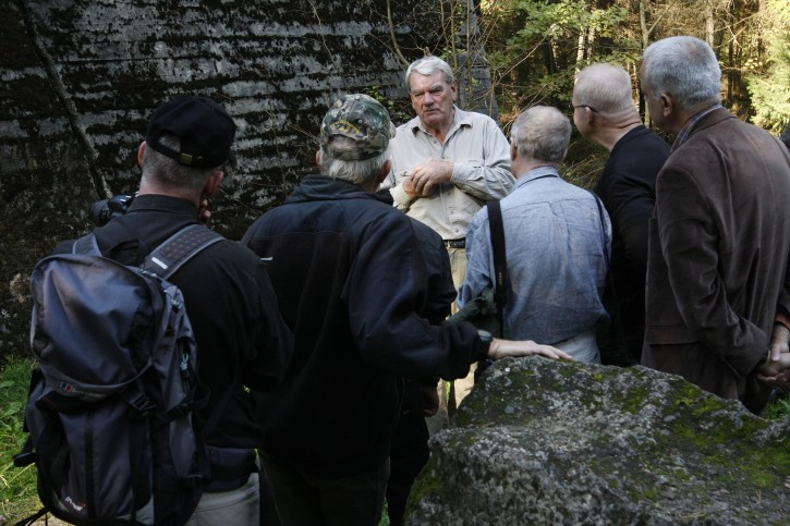"FILE - Controversial British historian and Holocaust denier David Irving in former Himmler's field headquarter ""Hochwald"" in Pozezdrze in Masuria Region, North-East Poland, 24 September 2010. EPA"
