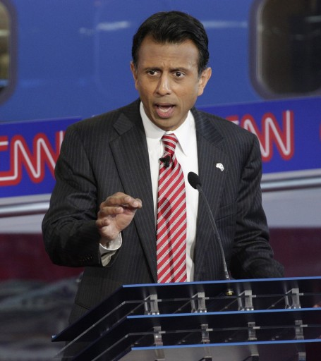 FILE - Republican presidential candidate Bobby Jindal participates in the US Republican Presidential candidates debate at the Ronald Reagan Presidential Library in Simi Valley, California, USA, 16 September 2015. EPA