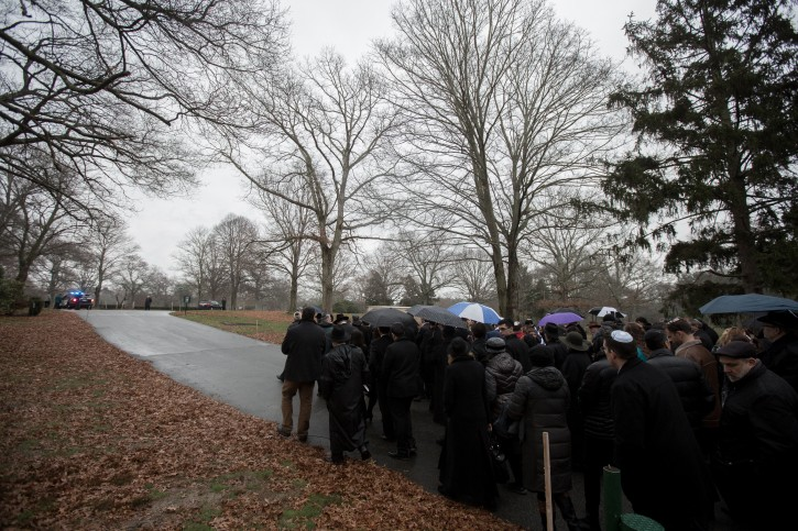 The funeral for Ezra Schwartz, an 18 year old victim of a terrorist attack in Israel, is held at Temple Sinai and Sharon Memorial Park on November 22, 2015 in Sharon, Massachusetts. (Photo by Elan Kawesch)