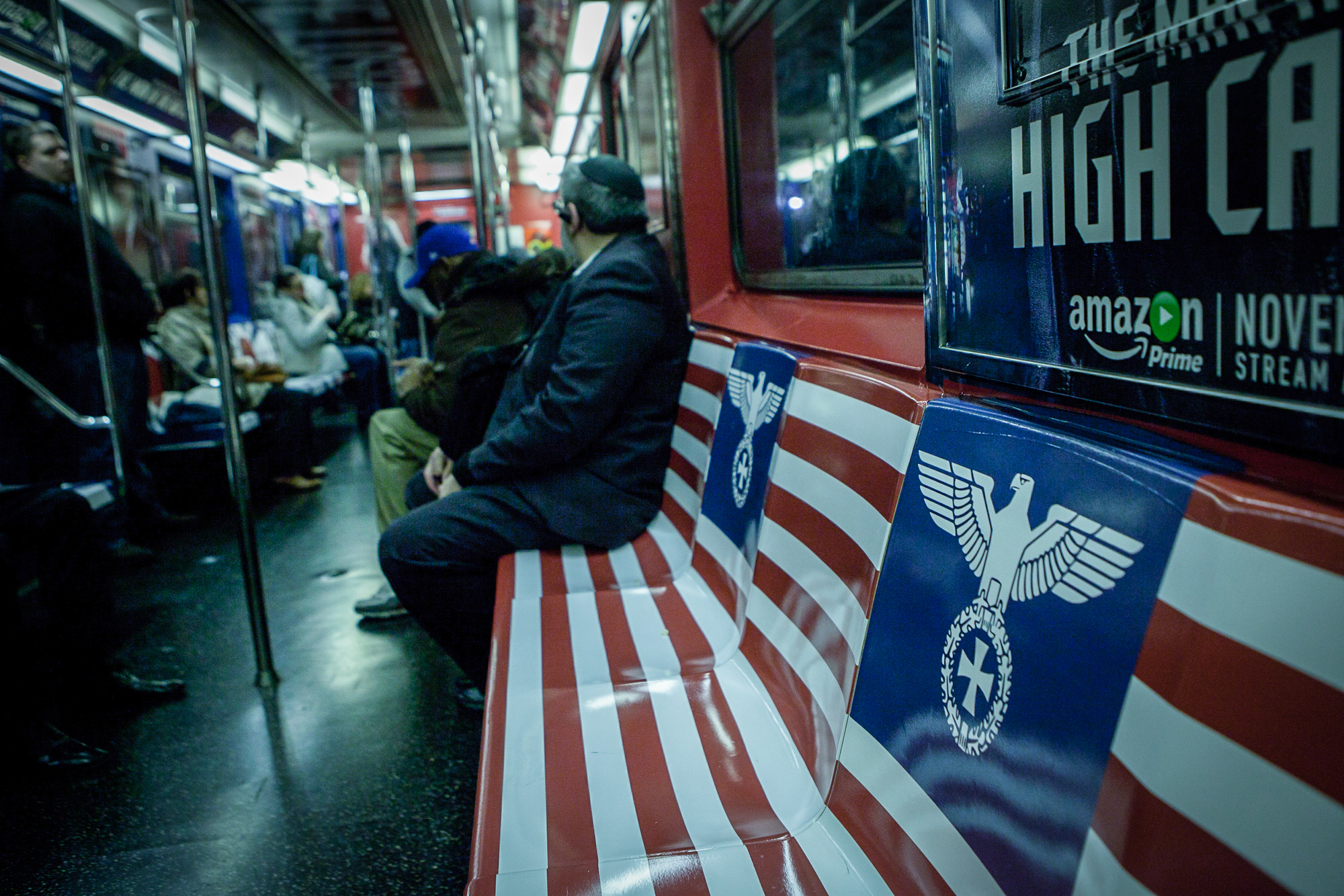 New York Amazon Promotion Covers Nyc Subway In Nazi Symbology