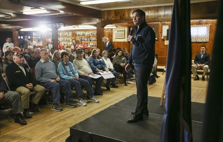 Republican presidential candidate Sen. Marco Rubio, R-Fla. speaks during a town hall meeting held at the Laconia VFW in Laconia, N.H., Monday, Nov. 30, 2015.  (AP Photo/Cheryl Senter)
