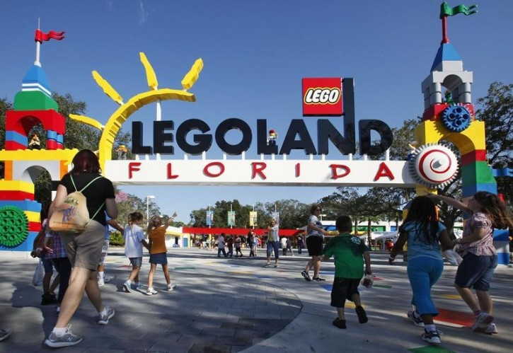 FILE - Park visitors enter Legoland Florida during its grand opening celebration in Winter Haven, Florida October 14, 2011.REUTERS