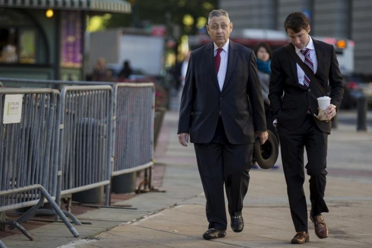 FILE - Former New York State Assembly Speaker Sheldon Silver exits the Manhattan U.S. District Courthouse in New York, November 3, 2015. Reuters