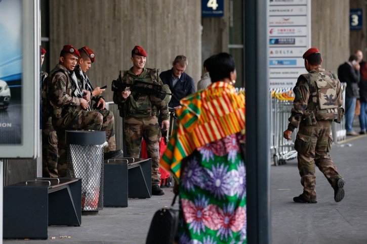 Military patrol outside the airport charles de gaulle in Paris, France, 14 November 2015. Reuters