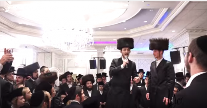 Israeli singer Chaim Shlomo Mayesz singing the title track of his newly released album Bas Kol at his Brothers wedding in Borough Park section of Brooklyn this past Oct.