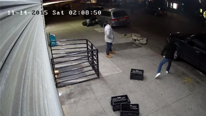 The two were caught on surveillance video commiting their crime