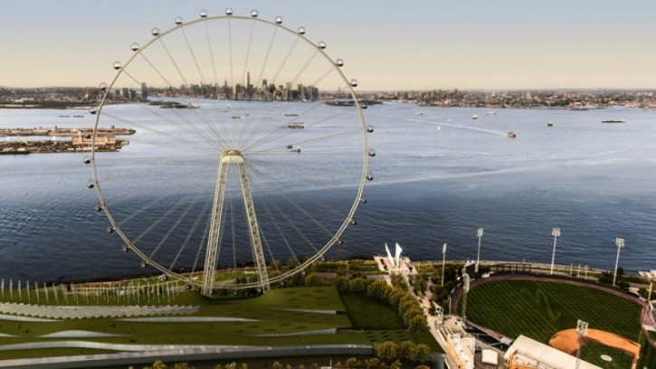 An artist's rendering of a proposed 625-foot Ferris wheel. (AP Photo/Office of the Mayor of New York)