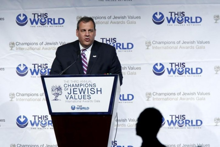 FILE - New Jersey Governor Chris Christie addresses the third Annual Champions of Jewish Values International Awards Gala in New York May 28, 2015. REUTERS/Eduardo Munoz