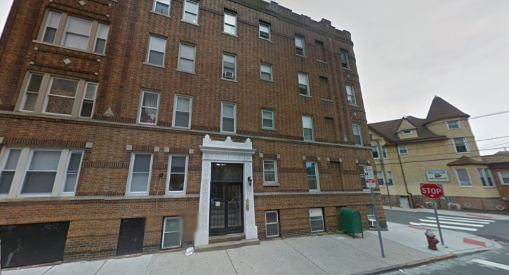 The apartment building on Tonnele Ave. in Jersey City where a retired police captain says he cleared a rooftop celebration on 9/11. (Google)