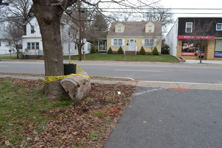 The scene where a fatal car crash that occurred Saturday, Jan. 16, 2016, near the intersection of Raritan Avenue (Route 27) and Columbia Street in Highland Park. (Courtesy to VINnews.com - Photo by Alex Napoliello | NJ Advance Media for NJ.com)