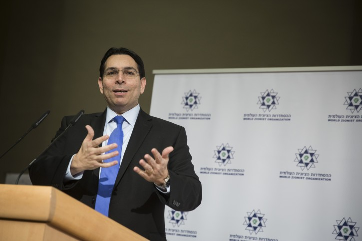 Israeli Ambassador to the UN, Danny Danon, speaks at the Conference for Fighting Anti-Semitism, at the Begin Center in Jerusalem, on January 31, 2016. Photo by Hadas Parush/Flash90