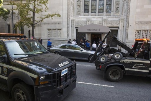 FILE - New York Police Department tow trucks in New York September 7, 2014. REUTERS/Lucas Jackson