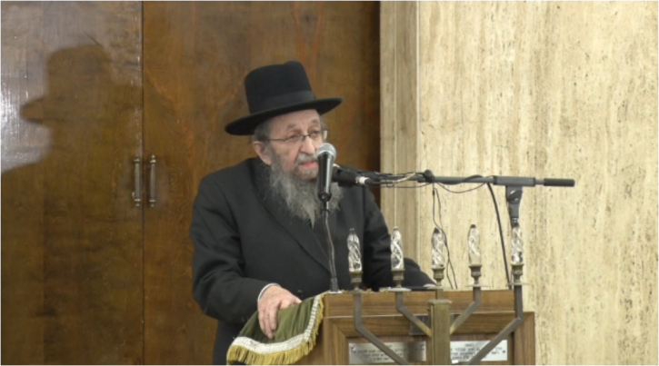Rabbi Shmuel Kamenetsky founder and rosh yeshiva (dean) of the Talmudical Yeshiva of Philadelphia.