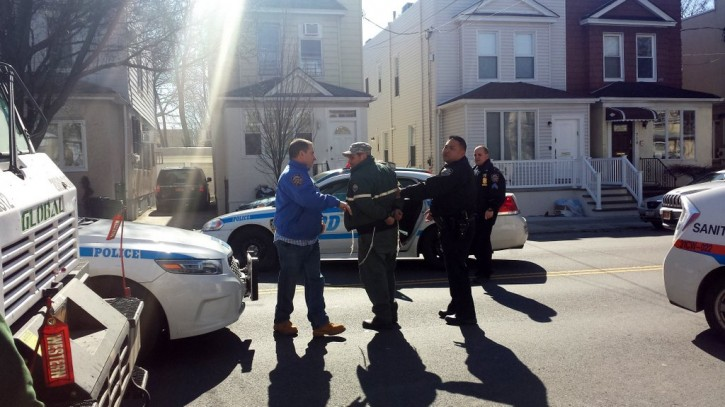 Sanitation worker Roman Protas arrested by the NYPD on Thursday Feb. 18, 2016 (Exclusive Photo Shimon Gifter/VINnews.com)