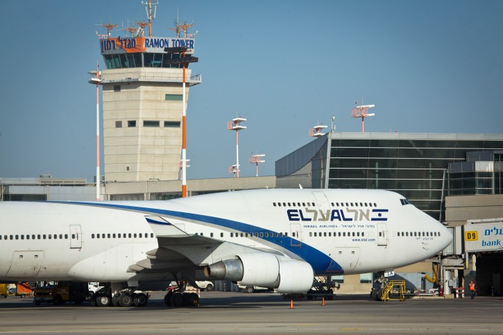 FILE  -El Al flight seen at the airstrip at the Ben Gurion International Airport. February 26, 2015. Photo by Moshe Shai/FLASH90