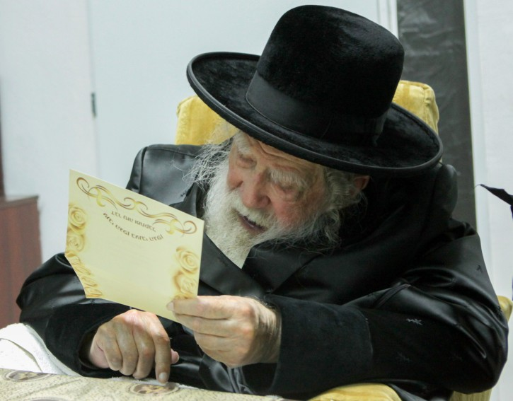**FILE** The Rabbi Erlau (Rabbi Yochanan Sofer) seen at his home in Jerusalem on November 11, 2014. Photo by Flash90