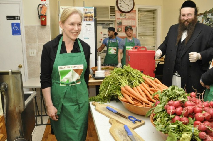 FILE - Senator Gillibrand visiting Masbia of Boro Park June 3, 2012