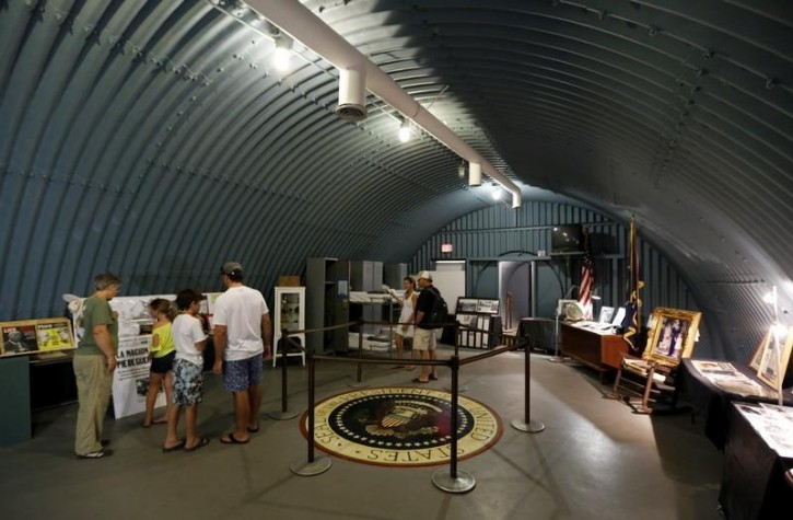 FILE  -Guests visit the cold-war era nuclear fallout shelter constructed for U.S. President John F. Kennedy on Peanut Island near Riviera Beach, Florida November 8, 2013.  Reuters