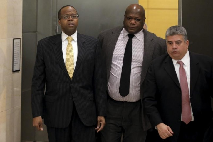 FILE - Brooklyn borough district attorney Ken Thompson exits the court room after attending the conviction of New York City police officer Peter Liang at the Brooklyn Supreme court in the Brooklyn borough of New York February 11, 2016. Reuters