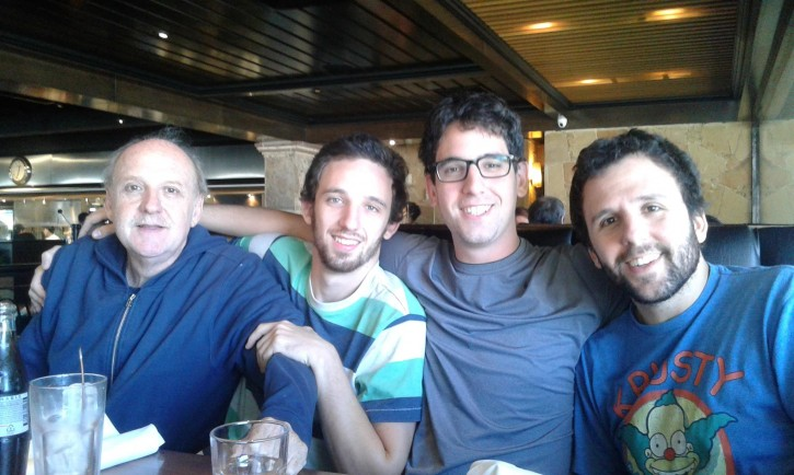 David Fremd (far left) seen here with his family, Fremd a jewish merchant in Uruguay Aventura Paysandú was stabbed to death (Facebook)