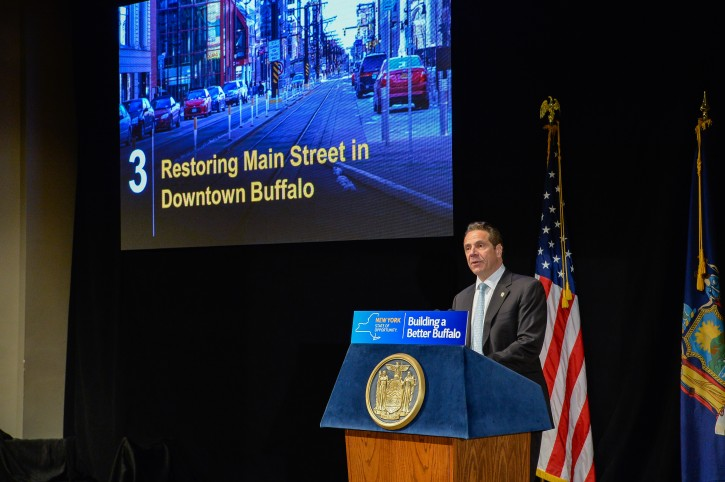 April 06, 2016- Buffalo- Governor Andrew Cuomo announces more than $112 Million for Major Transportation Projects in Western New York.