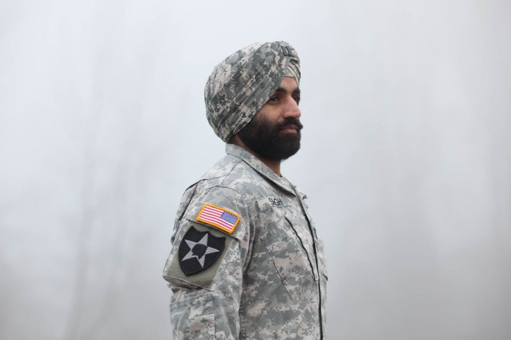 FILE - Capt. Simratpal Singh, who won the long-term ability to serve with his Sikh articles of faith intact on March 31, 2016. Jovelle Tamayo / The Sikh Coalition