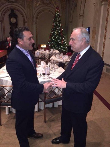 FILE - NYPD Commish Bratton seen here with Inspector Michael Ameri