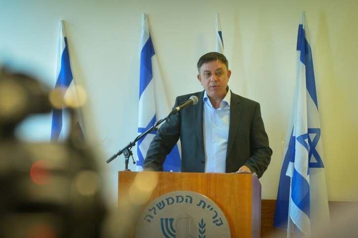 Israeli Environmental Minister Avi Gabai holds a press conference on May 27, 2016, announcing his resignation from politics in protest over the appointment of Avigdor Liberman as new defense minsiter. Photo by FLASH90