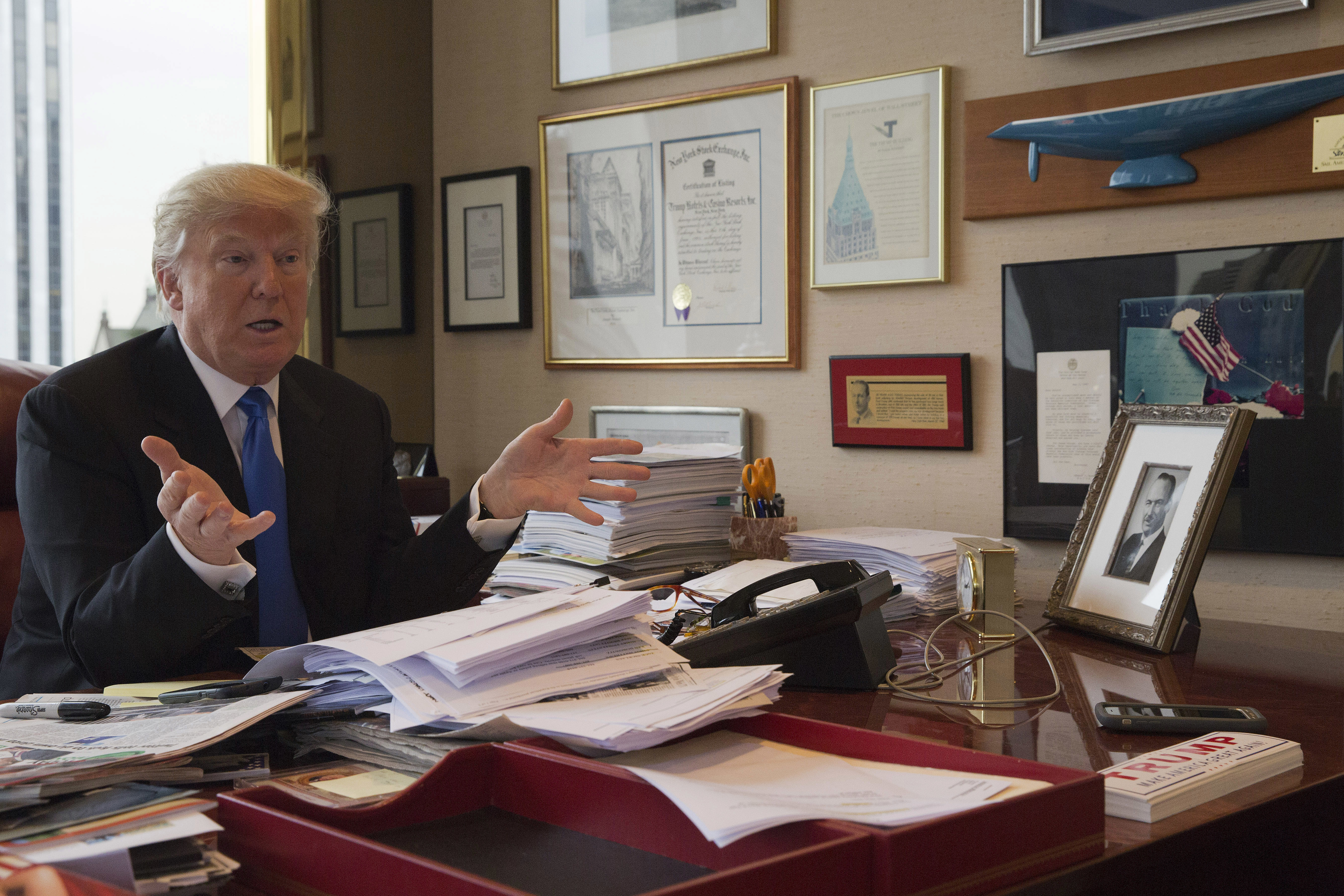 new york ap interview donald trump says he s narrowed vp shortlist republican presidential candidate donald trump gestures as he speaks during an interview the associated press