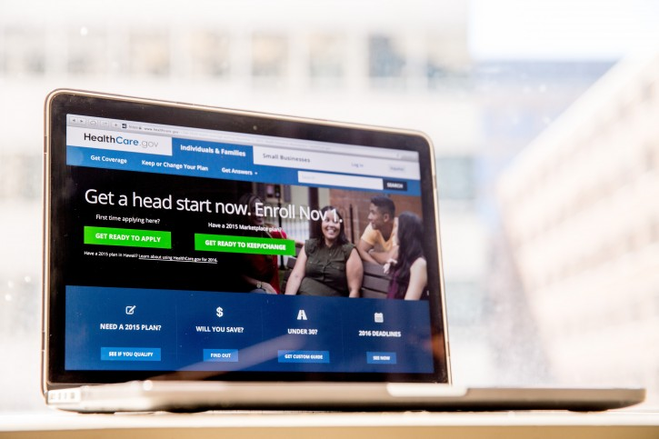 FILE - In this Oct. 6, 2015, file photo, the HealthCare.gov website, where people can buy health insurance, is displayed on a laptop screen in Washington. Expect insurers to seek significant premium increases under President Barack Obamaís health care law, in a wave of state-level requests rippling across the country ahead of the political conventions this summer. (AP Photo/Andrew Harnik, File)